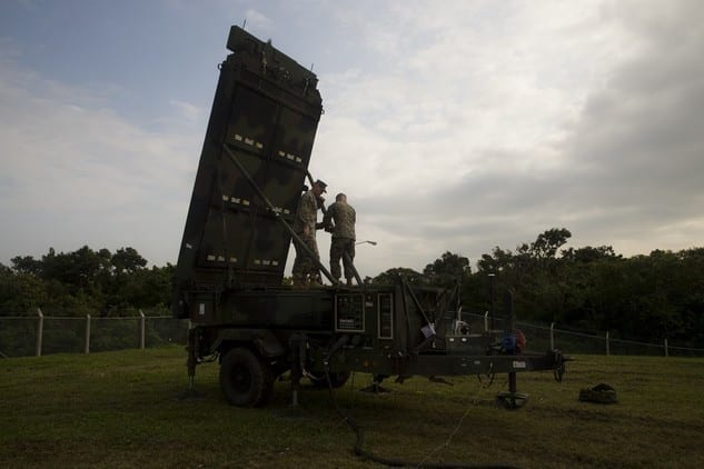 U.S. Marines set up the AN/TPS-80 Ground/Air Task-Oriented Radar system on Feb. 26, 2019. The Marine Corps recently approved the full-rate production of the system, which combines five legacy radar systems into a single solution with multiple operational capabilities.