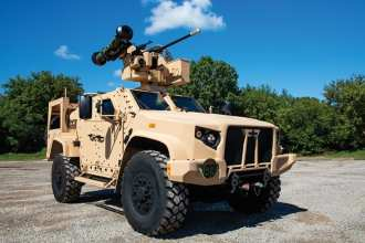 """""""The JLTV is the only light tactical vehicle on the field today that can maneuver within combat formations, hauling critical weaponry and equipment across tough terrain, all while keeping our troops safe and protected."""""""