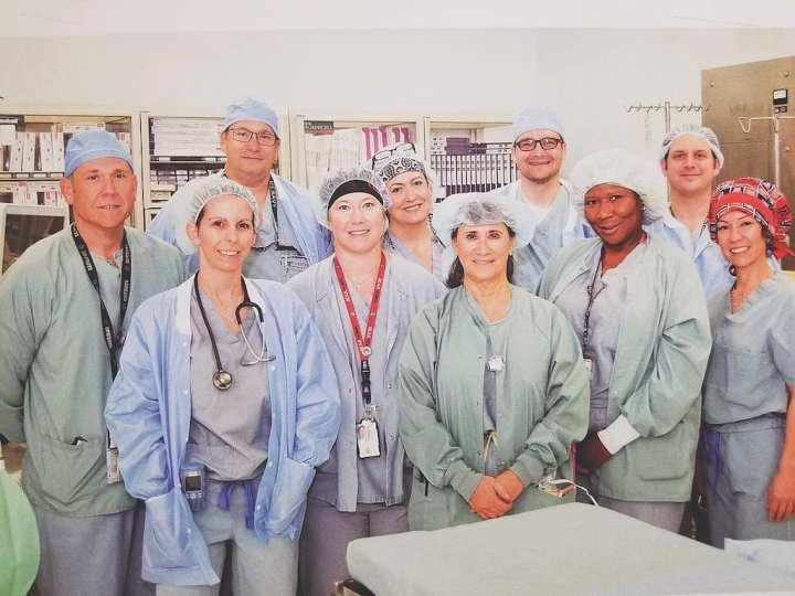 The certified registered nurse anesthetists (CRNAs) staff at the Southern Arizona VA Health Care System. CRNAs are a group of nurses who most often join the Department of Veterans Affairs (VA) after leaving the military. VA employs the greatest number of CRNAs in the federal sector on a full-time basis. (Association of Veterans Affairs Nurse Anesthetics)