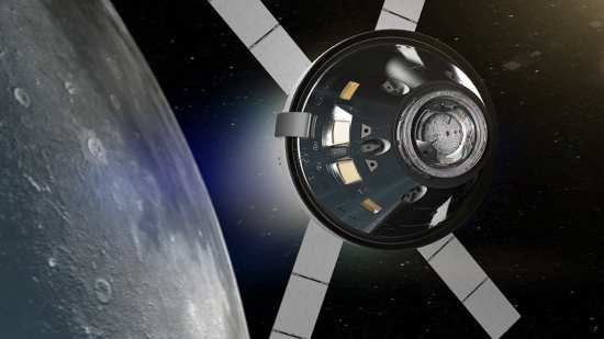 Orion orbits Moon