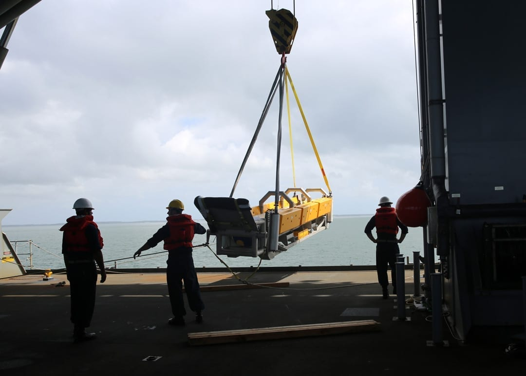 Navy tests mine countermeasure system