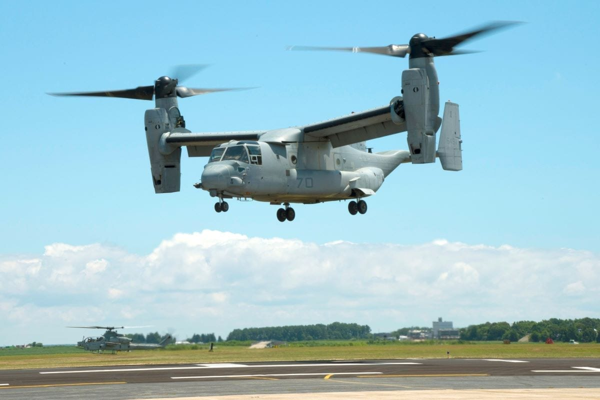 MV-22B Osprey 3D-printed titanium parts additive manufacturing #D-printing defensemedianetwork.com part supplier aerospace logistics