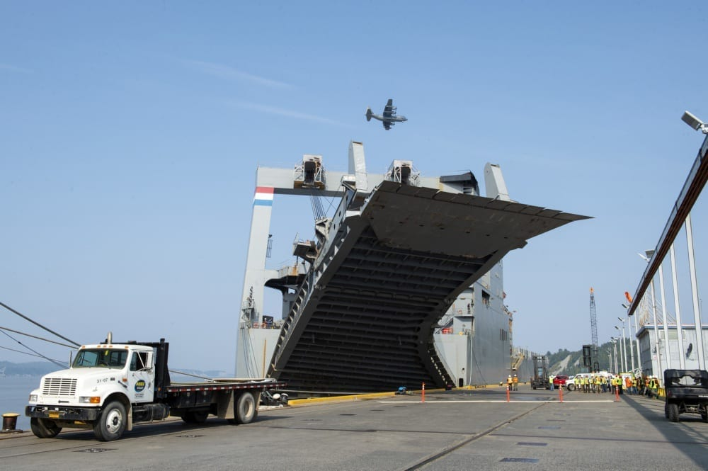 military transportation shipping transit logistics containers aircraft boats rail trains commercial partners
