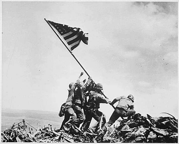 Iwo Jima Mount Suribachi U.S. Marines Flag Raising