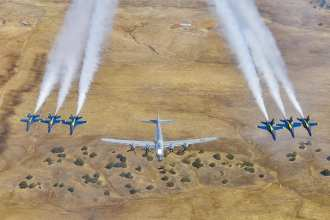 F-18 Blue Angels US Navy B29 Bomber Cool Aviation Photo