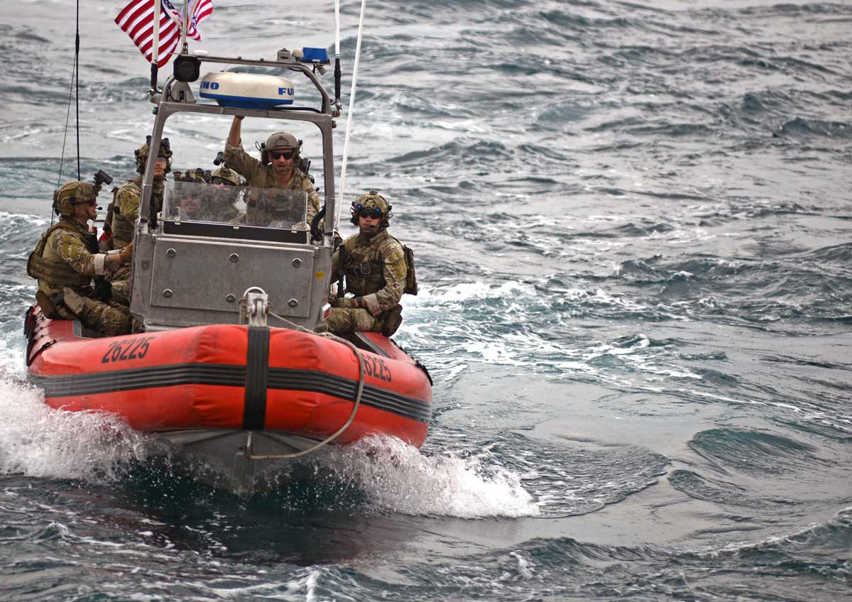 USCG Coast Guard Maritime Security Response Team-West Members DPRK Sanctions USCGC Stratton Yellow Sea Law Enforcement
