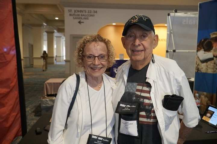 92-year-old World War II and Korean War Veteran Arnold Reichenthal (pictured with wife Isla) is one of 4.1 million Americans who can now shop in-store at the Army & Air Force Exchange Service.