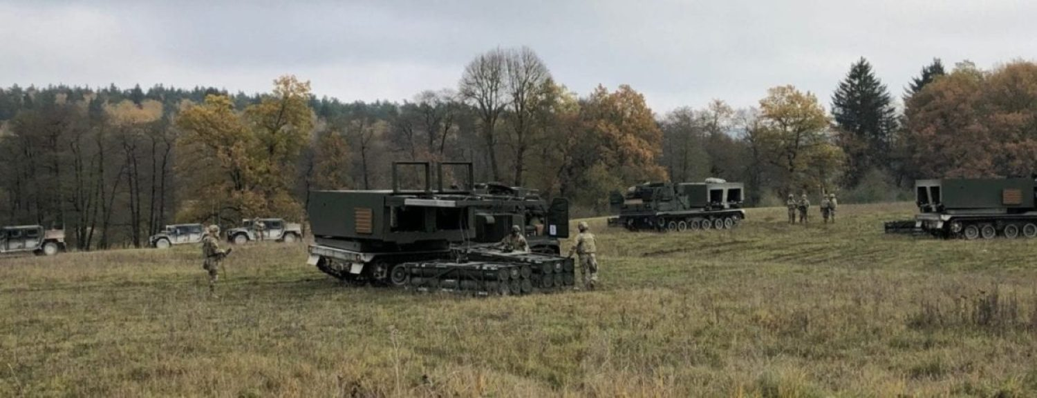 The 1-6 Field Artillery Battalion conducts dry fire missions with mock pods in the training fields at the U.S. Army Base in Grafenwoehr, Germany. (Photo Credit: Kinsey Lindstrom)