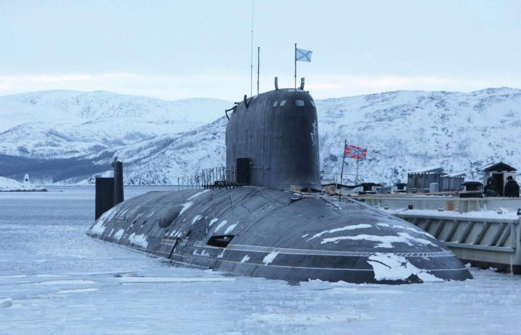 The Russian Yasen-class cruise missile submarine Severodvinsk.