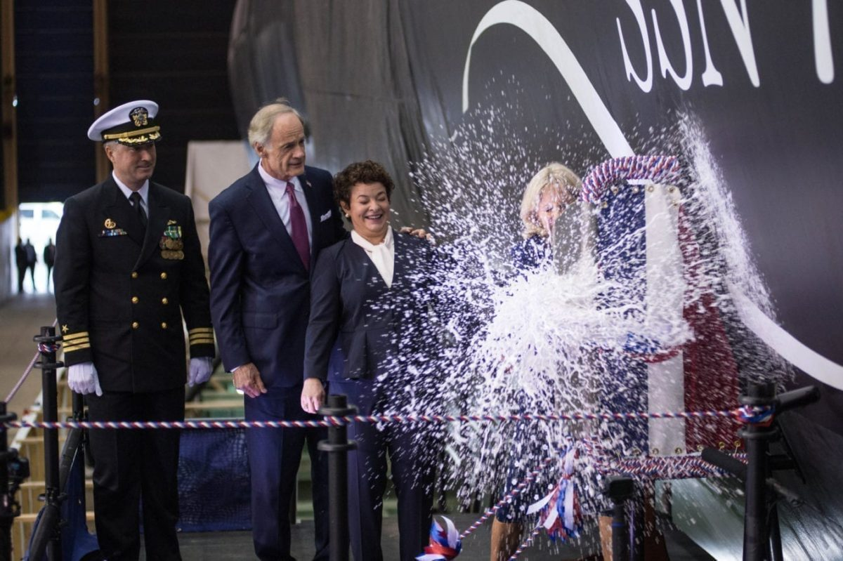 USS Delaware (SSN 791) Christening Ceremony