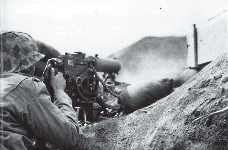 U.S. Marine Machine Gunner Iwo Jima