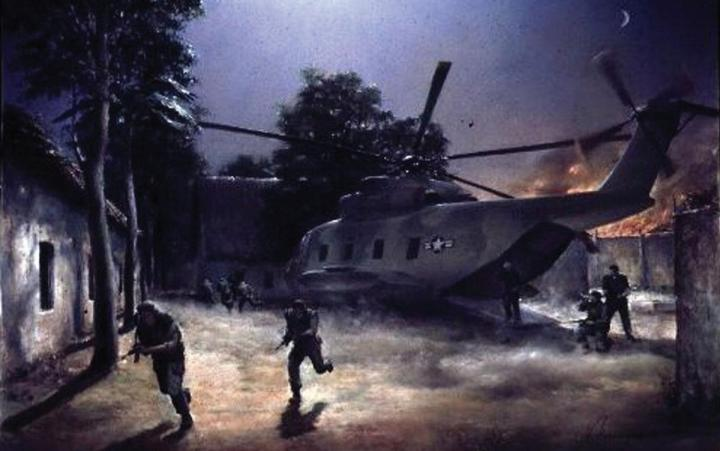 """The Raid, Blue Boy Element"" by Michael Nikiporenko Vietnam War Special Operations"