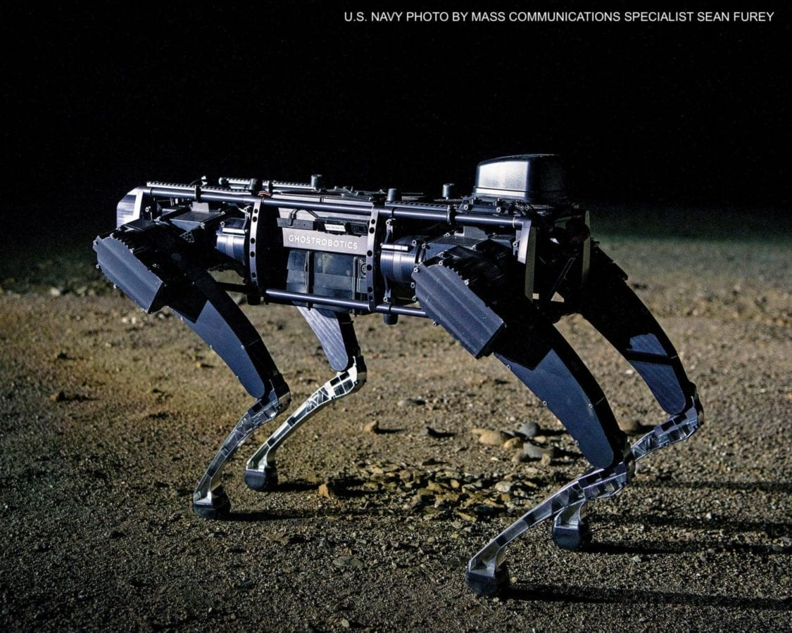 Special Operations NSWC Ghost Robotics robotic dog