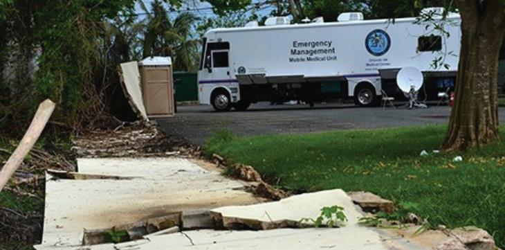 A Mobile Medical Unit from the Orlando VA Medical Center deployed to Puerto Rico in the aftermath of Hurricane Maria.