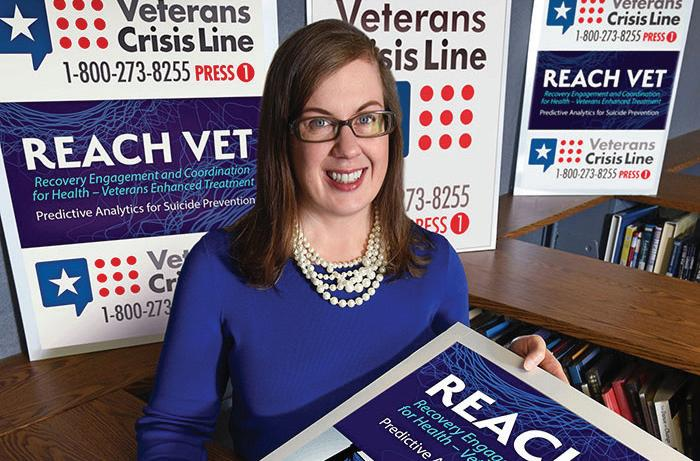 Dr. Sara Landes, a psychologist at the Central Arkansas Veterans Healthcare System, is leading a study evaluating the implementation of REACH VET, a program aimed at increasing suicide prevention outreach for veterans at highest risk for suicide, at 28 VA medical centers. The study will make it possible to identify and address potential barriers to implementation so the program can run as smoothly as possible.