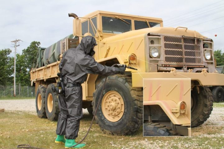 Research through the U.S. Army Small Business Technology Transfer program, results in a product to accurately detect chemical weapons at low concentration levels. It is now being used by National Guard units throughout every state in the country, and the Army has begun fielding it to all units in areas where there is a threat of chemical agents. (U.S. Army)