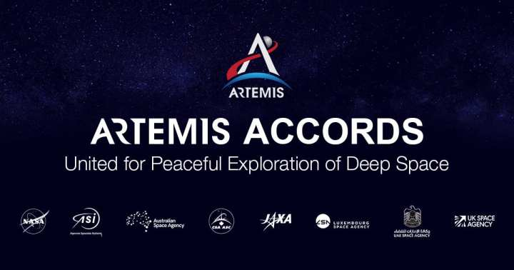 """International cooperation on and around the Moon as part of the Artemis program is taking a step forward today with the signing of the Artemis Accords between NASA and several partner countries. The Artemis Accords establish a practical set of principles to guide space exploration cooperation among nations participating in the agency's 21st century lunar exploration plans. """"Artemis will be the broadest and most diverse international human space exploration program in history, and the Artemis Accords are the vehicle that will establish this singular global coalition,"""" said NASA Administrator Jim Bridenstine. """"With today's signing, we are uniting with our partners to explore the Moon and are establishing vital principles that will create a safe, peaceful, and prosperous future in space for all of humanity to enjoy."""" While NASA is leading the Artemis program, which includes sending the first woman and next man to the surface of the Moon in 2024, international partnerships will play a key role in achieving a sustainable and robust presence on the Moon later this decade while preparing to conduct a historic human mission to Mars. The founding member nations that have signed the Artemis Accords, in alphabetical order, are: Australia Canada Italy Japan Luxembourg United Arab Emirates United Kingdom United States of America NASA announced it was establishing the Artemis Accords earlier this year to guide future cooperative activities, to be implemented through bilateral agreements that will describe responsibilities and other legal provisions. The partners will ensure their activities comply with the accords in carrying out future cooperation. International cooperation on Artemis is intended not only to bolster space exploration but to enhance peaceful relationships among nations. """"Fundamentally, the Artemis Accords will help to avoid conflict in space and on Earth by strengthening mutual understanding and reducing misperceptions. Transparency, public registration, deconfli"""