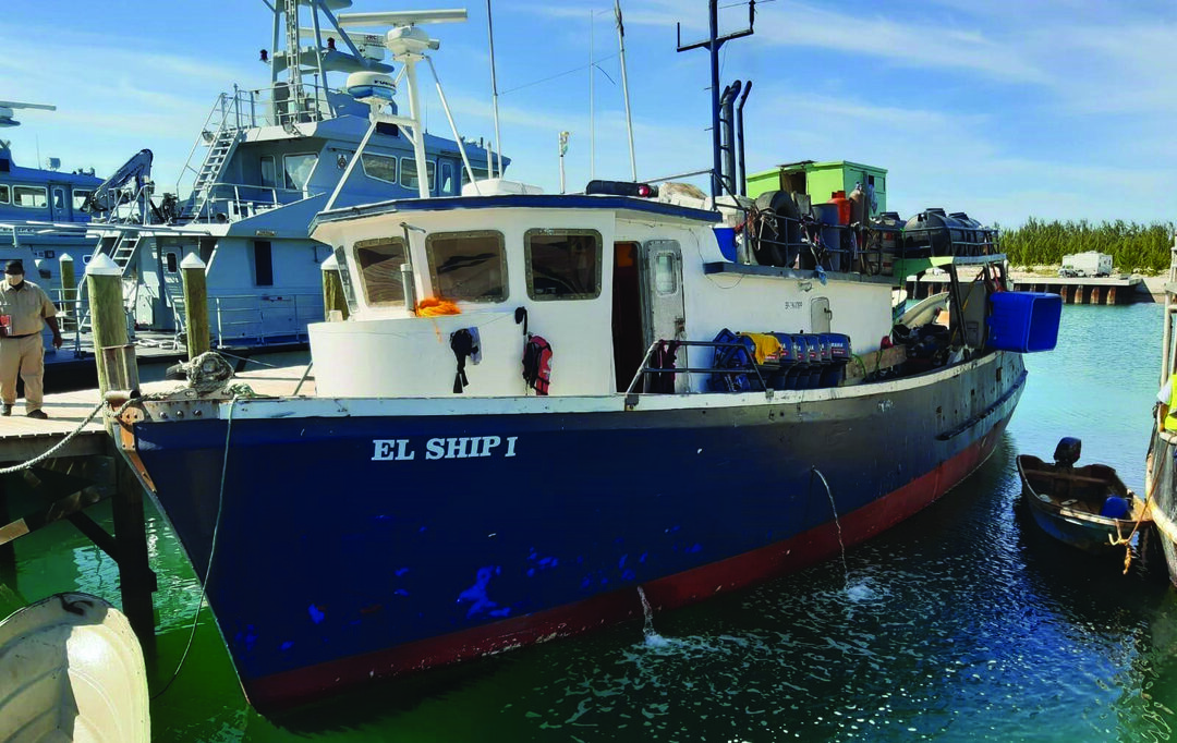 Coast Guard watchstanders and the Royal Bahamas Defence Force (RBDF) crew interdicted two Dominican Republic-flagged ships illegally fishing off Diamond Point, Great Bahama Bank, Sept. 17, 2020. Watchstanders from the Coast Guard's Operation Bahamas Turks and Caicos operation center coordinated with RBDF crews to board two commercial fishing vessels, El Ship and Angel Gabriel, which had 83 fishermen aboard. PHOTO COURTESY OF ROYAL BAHAMAS DEFENCE FORCE