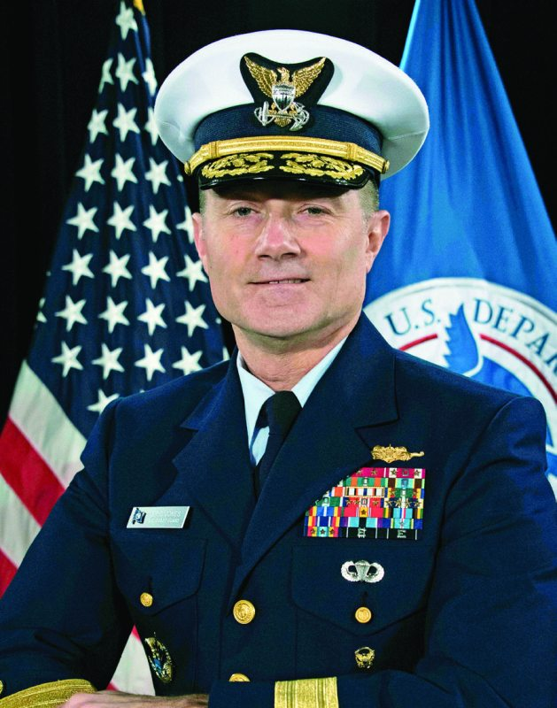 Rear Adm. Eric Jones, commander, Coast Guard District 7. U.S. COAST GUARD PHOTO BY SEAMAN ERIK VILLA-RODRIGUEZ