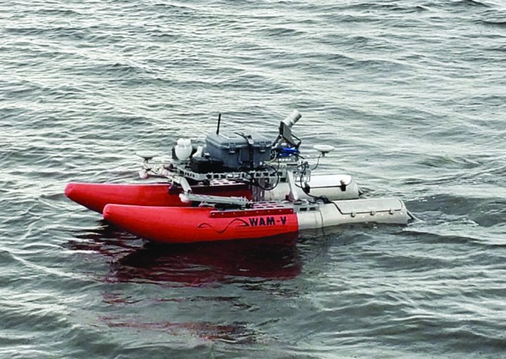 The Multifunctional Assessment Reconnaissance Vessel is a cutting-edge, unmanned vessel designed for surface and subsurface port inspections, obstacle detection, and precision data capture. (U.S. Army Photo)