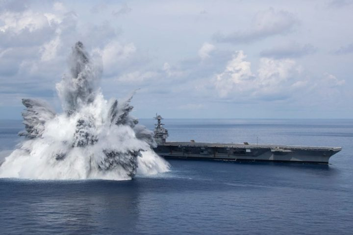 USS Gerald R. Ford Shock Trial Test