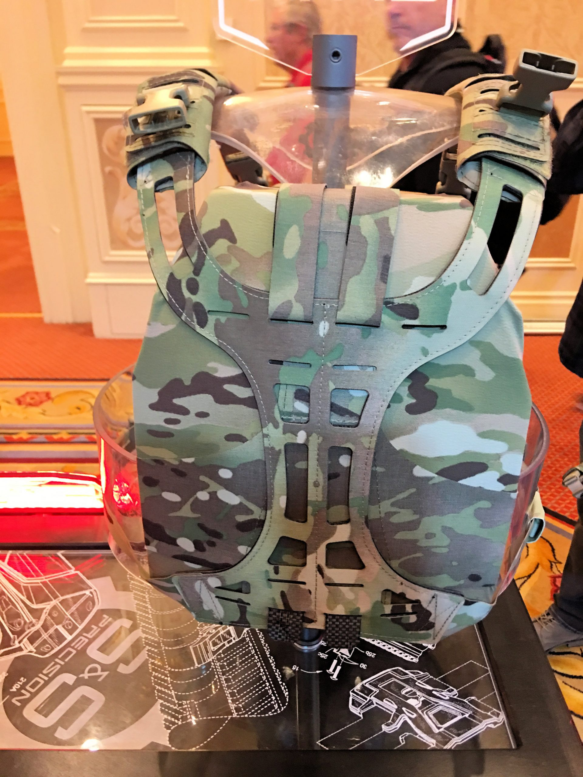 S&S Precision Chest Rig-Modular (CR-M) Tactical Armor Plate Carrier/Rhodesian Chest Rig with Watershed Waterproof Dry Bag for Spare AR Mags or ...