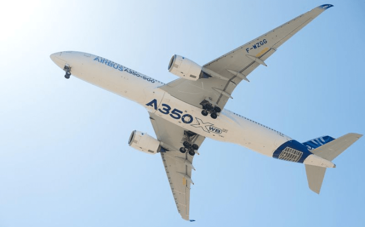 Airbus delivered A350 XWB #10 in October. Photo - Courtesy of Airbus