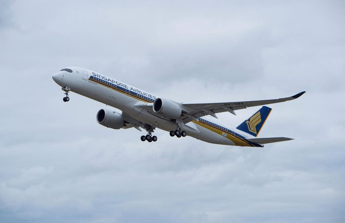 Singapore Airlines took delivery of its first A350 XWB (an A350-900) on February 2, 2016.  Photo Courtesy: Airbus SAS
