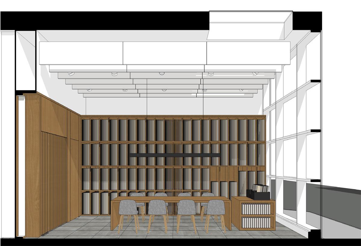 Marca Corona, showroom, sala mostra, sassuolo, interni, deferrari modesti