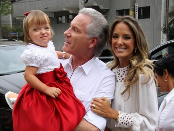 Rafaela, Roberto Justus e Ticiane Pinheiro