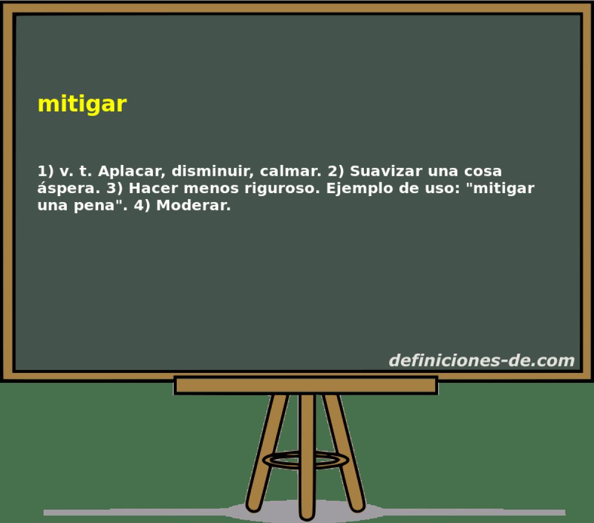 Qu significa Mitigar