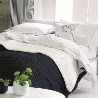 Designers Guild Chenevard Black and White Quilts and Shams