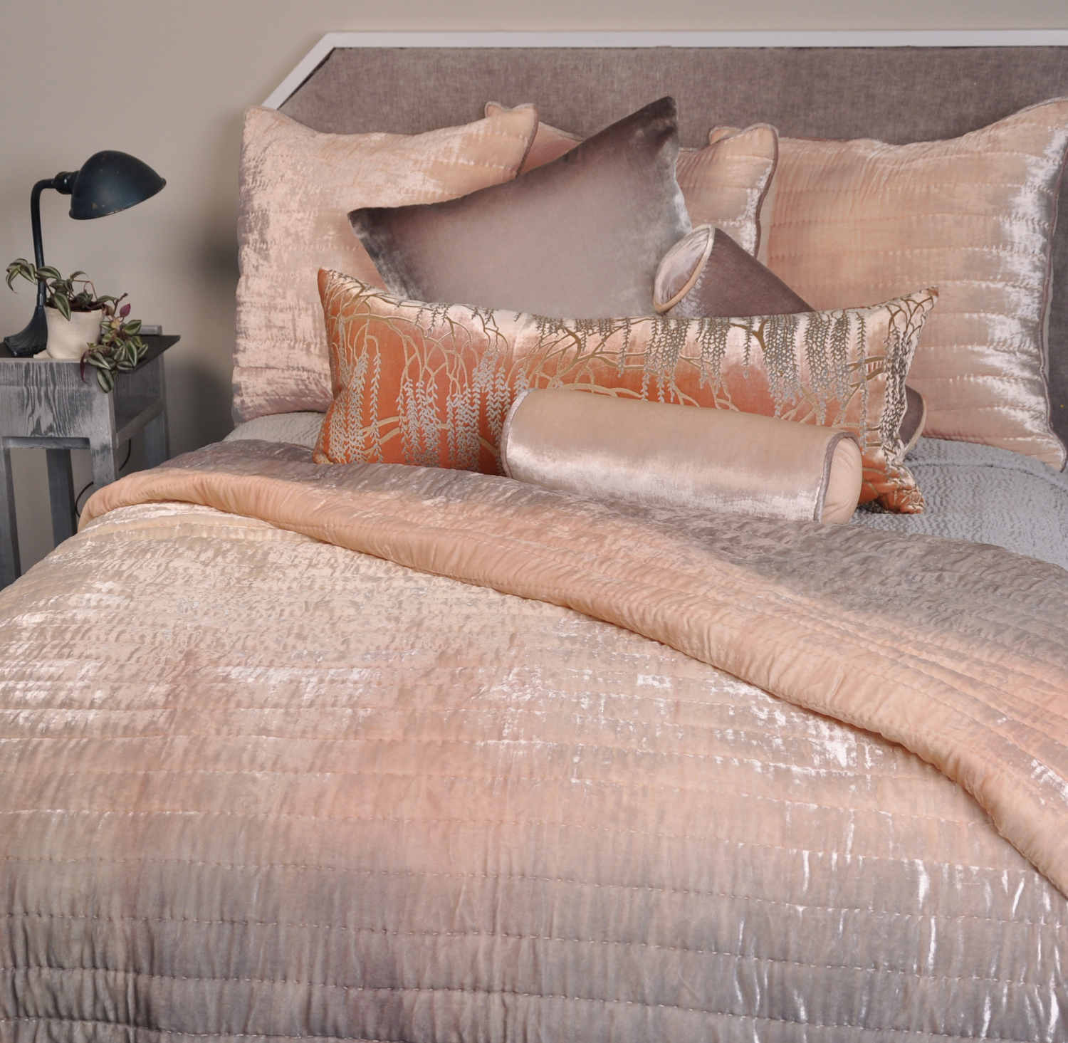 UUU Kevin OBrien Studio Bedding  Ophelia Opal Quilted