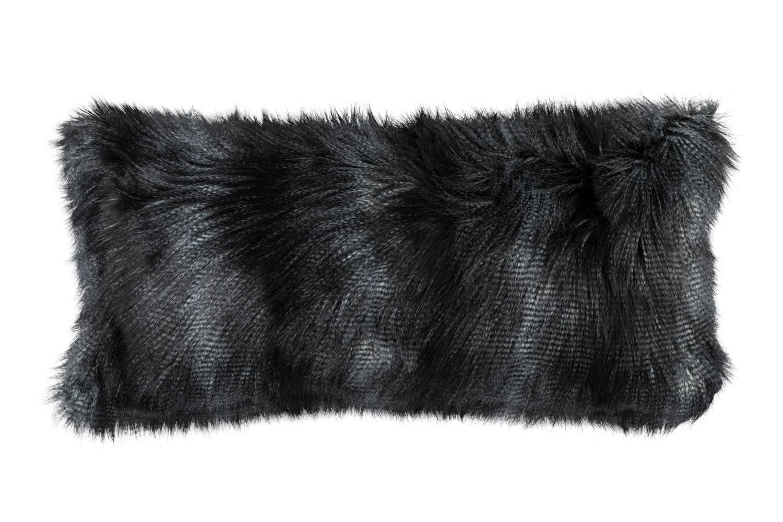 lili alessandra faux fur decorative pillows throw in black