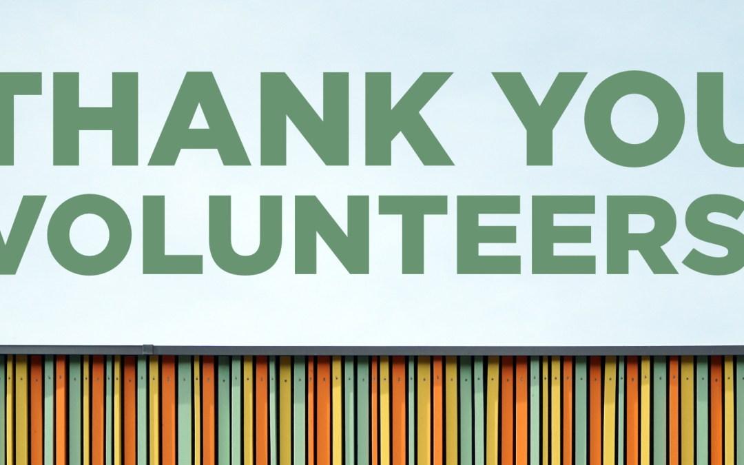 Volunteer Thank You Worship and Social Media Graphics