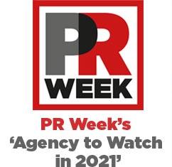 PR Week agency to watch 2021 logo
