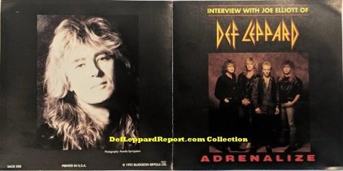 Def Leppard Adrenalize Joe Elliott Interview CD
