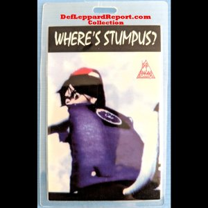 Def Leppard Adrenalize tour backstage pass