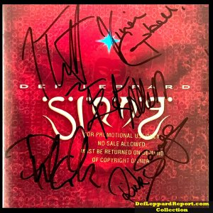 Def Leppard Slang promo CD signed by the band