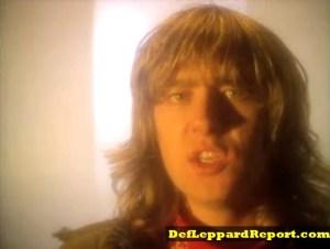 Joe Elliott in Def Leppard Bringin On The Heartbreak music video remix