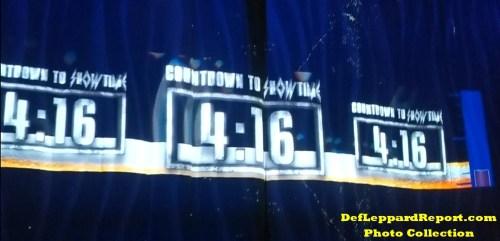 Def Leppard concert countdown clock