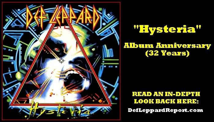 Def Leppard Hysteria album anniversary