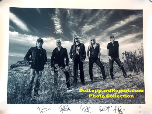 Def Leppard Signed Kevin Nixon photograph
