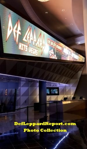 Zappos theater Def Leppard sign