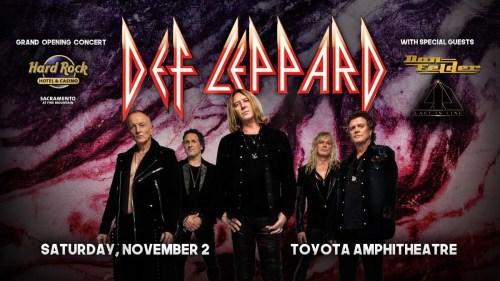 Def Leppard Hard Rock Casino Sacramento Show