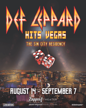 Def Leppard Sin City Zappos Residency poster