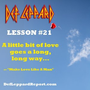 Def Leppard Lyrics Lesson - Make Love Like A Man