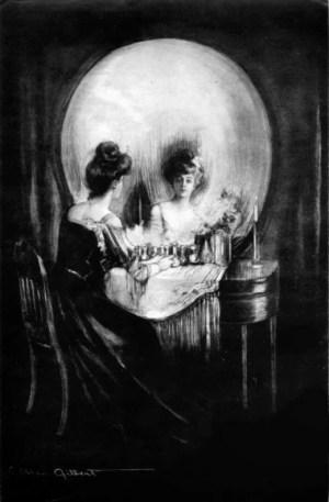 """Charles Allan Gilbert """"All is Vanity"""" painting"""
