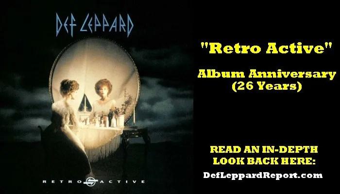 Def Leppard Retro Active album anniversary
