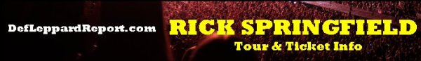 Rick Springfield tour tickets